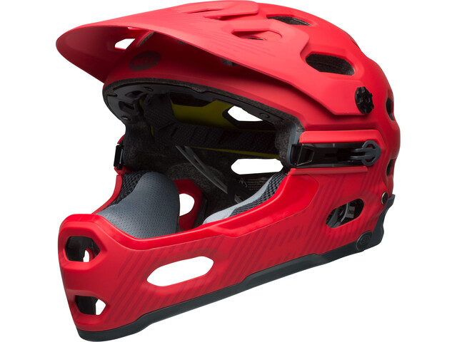 Bell Super 3R MIPS MTB Helmet matte hibiscus/smoke